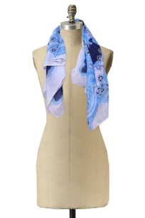 Divided by H&M Divided By Hm Blue Multi Scarf Neck Wrap Paisley Print Light Weight