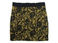 Divided by H&M Hm Yellow Mini Skirt Multi-Color