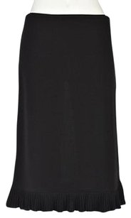 DKNY Womens A Line Solid Below Knee Career Wtw Skirt Black