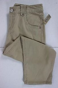 DKNY Womens Solid Capri/Cropped Pants Beige