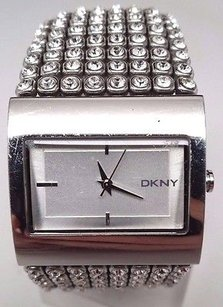 DKNY Dkny Ny4661 Womens Stainless Steel Crystal Accent Bracelet Watch