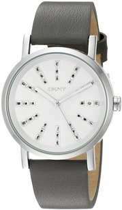 DKNY NY2421 DKNY Women's SOHO Stainless Steel Watch with Grey Leather Band