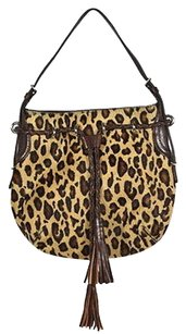 DKNY Womens Animal Print Cowhide Handbag Shoulder Bag