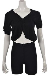 DKNY Womens Shrug Ps Open Front Silk Short Sleeve Sweater