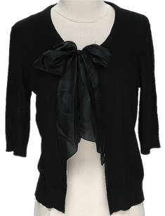 DKNY Silk Ribbon Tie Cardigan