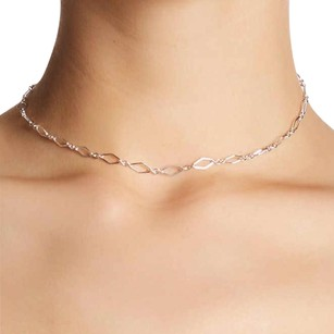 Dogeared Diamond Chain Choker