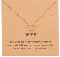 Dogeared Wish Clover Necklace