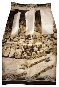 Dolce&Gabbana D&g Dolce Gabbana Skirt Brown/ Tan/ Off White