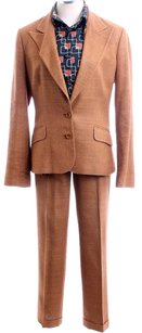 Dolce&Gabbana DOLCE and GABBANA Chestnut Silk Woven Summer Suit 30/44