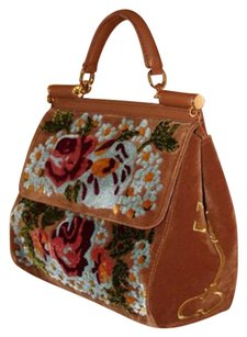 Dolce&Gabbana Dolce & Gabbana Gucci Carpet Miss Sicily Hermes Satchel in Brown, Blue, camel, burgundy, gold