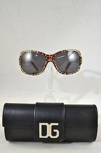 Dolce&Gabbana Dolce Gabbana Leopard Square Sunglasses Crystal Dg Sides