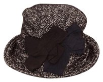 Dolce&Gabbana Dolce Gabbana Womens Classic Blackwhite Tweed Double Bow Bucket Hat 59