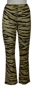 Dolce&Gabbana Dampg Dolce Amp Gabbana Womens Beige Animal Trousers Pants