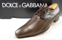 Dolce Gabbana Mens Shoes 42.5 Eel Skin Oxfords Dg Brown