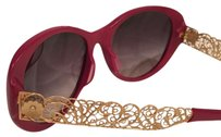 Dolce&Gabbana Red and Gold Sunglasses