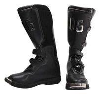 Dolce&Gabbana Womens Leather Ski Snow Winter Steel Toe Black Boots