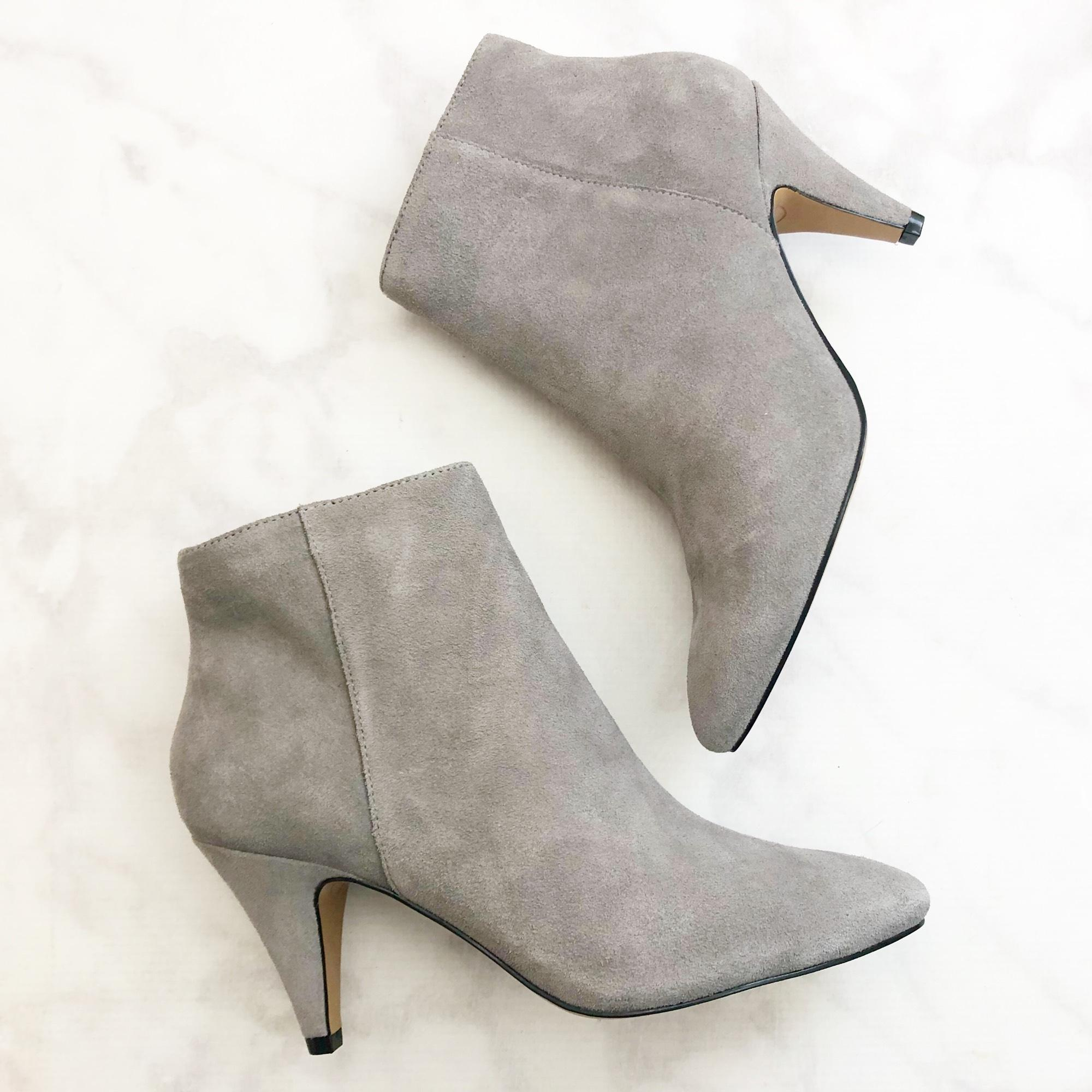 da525d1423da2 ... Dolce Vita Gray Suede Pointed Toe Ankle Boots Booties Size Size Size US  7 Regular ...