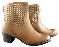 Dolce Vita Mella Camel Leather Size 6m Nib New Studded Brown Boots