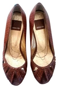 Dolce Vita 6.5 Saddle Snake Leather Wedges