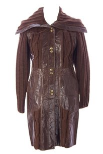 Doma by Luciano Abitboul Coats & Womens Doma_1366_brown_s Leather Jacket
