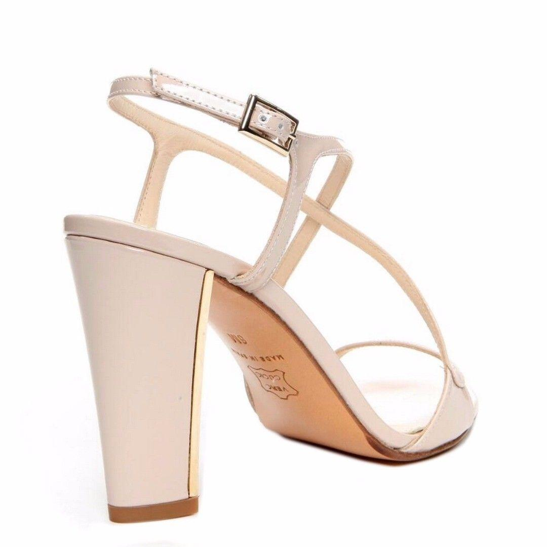 Donald J. Pliner Patent Leather Strappy Dressy Nude Sandals. 123456789