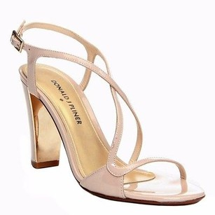 Donald J. Pliner J Patent Leather Arena Strappy Sandal 230479ae Nude Pumps