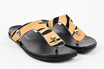 100% original sale online Donald J Pliner Ponyhair Slide Sandals low shipping fee for sale lowest price cheap online free shipping amazon pre order cheap online RkzrfzR