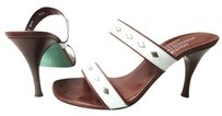 Donald J. Pliner white brown leather Sandals