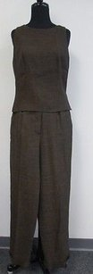 Donna Karan Donna Karan Signature Pc Sleeveless Blouse W Pleated Pants Suit T692