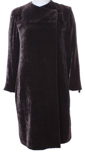 Donna Karan Evening Velvet Duster Silk Brown Couture Trench Coat