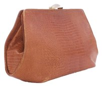 Donna Karan Leather Snakeskin Vintage CONIAC Clutch