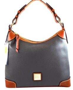 Dooney & Bourke Leather Dark R924 Hobo Bag
