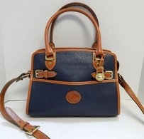 Dooney & Bourke Usa Vintage Satchel in Blue