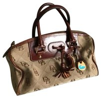 Dooney & Bourke Satchel in brown and beige