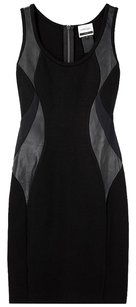 Doo.Ri Leather Date Party Mesh Dress