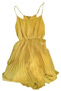Double Zero short dress Mustard yellow on Tradesy
