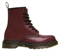 Dr. Martens Lace Up Chunky Heel Platform Leather Cherry Red Boots