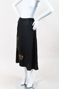 Dries van Noten Linen Skirt Black