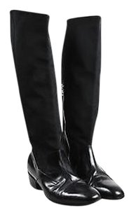 Dries van Noten Leather Black Boots