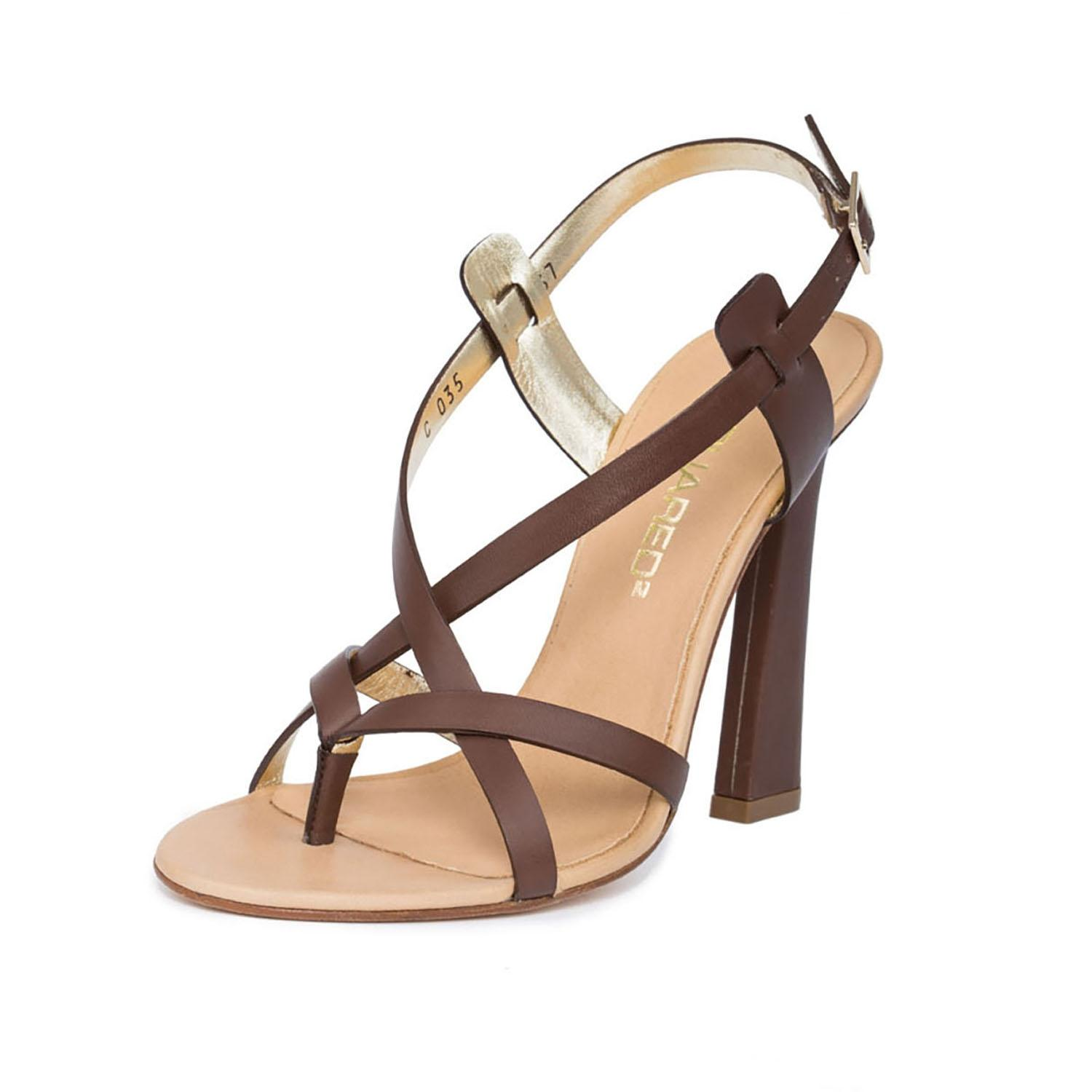 Sandals for Women On Sale, Leather Brown, Leather, 2017, 3.5 4.5 5.5 7.5 Dsquared2