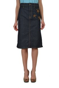 Dsquared2 Straight Pencil Skirt Blue
