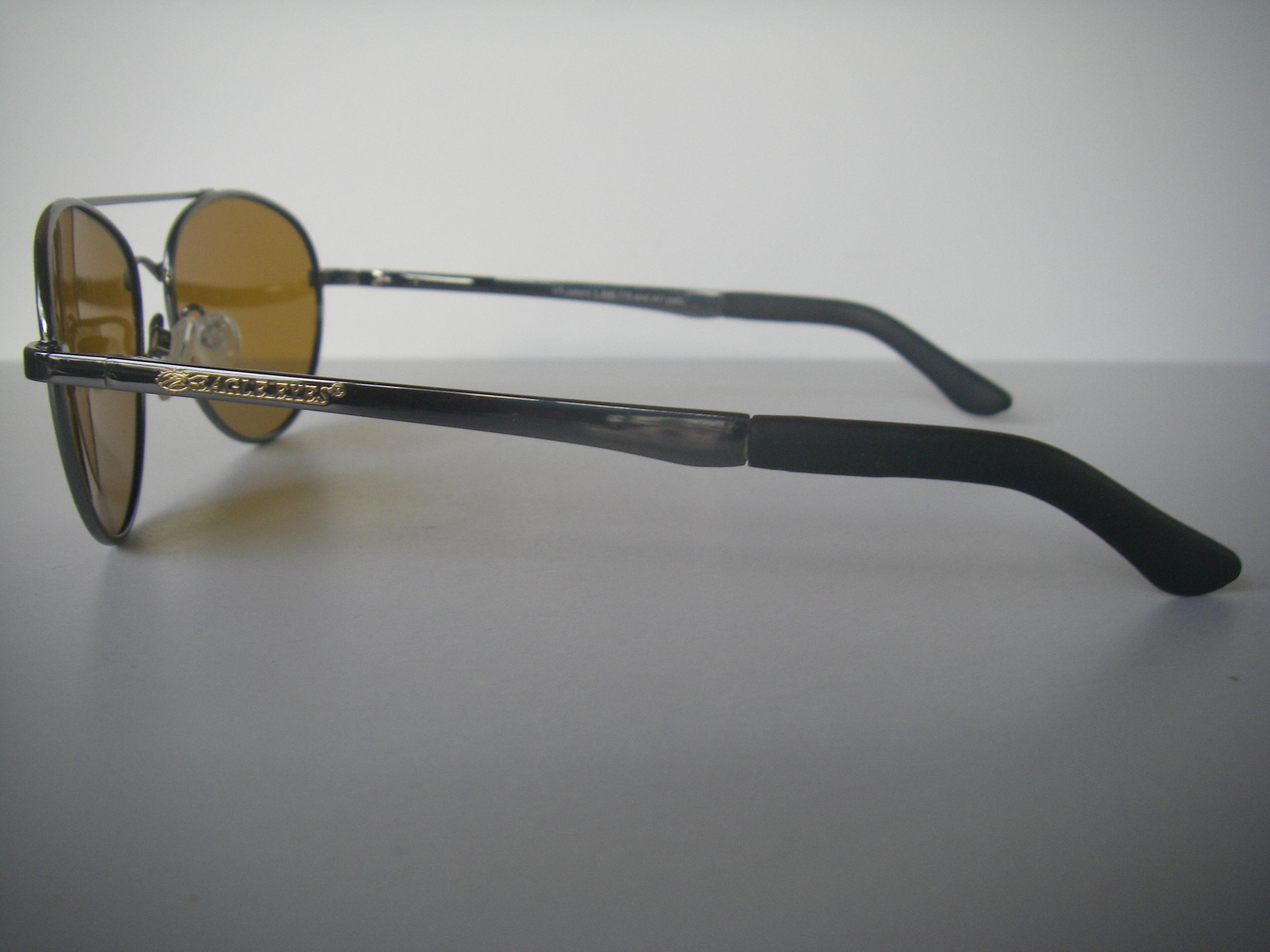 eagle eyes sunglasses qj5g  Eagle Eyes Eagle Eyes Explorer 10019 Aviator Sunglasses Amber Lens  Excellent Early Model