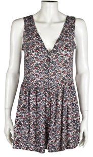 Ecote Floral Casual Sleeveless V Neck Dress