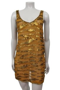 Ecote short dress Gold Tigers Eye Sequin on Tradesy