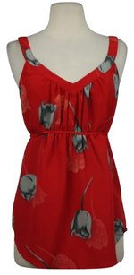 Ecote Womens Floral Top Red