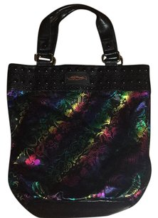Ed Hardy Tote in Black, Metallic Colors