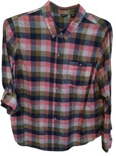 Eddie Bauer Button Down Shirt Checked
