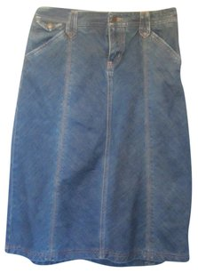Eddie Bauer Skirt blue denim