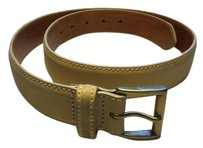 Eddie Bauer Tan Suede With Saddle Brown Leather & Brass Buckle