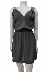 Eight Sixty Sixty Embellished Straps Blouson V Neck Dress